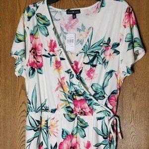 NWT - Tropical Floral Wrap Dress